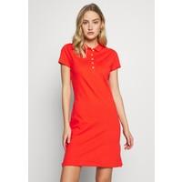 Tommy Hilfiger SLIM POLO DRESS Sukienka letnia bright vermillion TO121C0A2