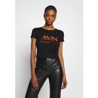 Armani Exchange GRAPHIC CREW T-shirt z nadrukiem black ARC21D028