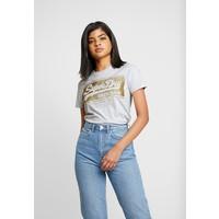 Superdry LOGO BLOCK GLITTER ENTRY TEE T-shirt z nadrukiem ice marl SU221D1KH