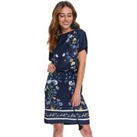 Top Secret Luźna sukienka w kwiaty STU0171
