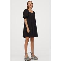 H&M Sukienka z bufiastym rękawem 0856848001 Czarny