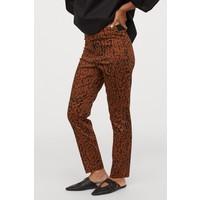H&M Spodnie do kostki 0783346024 Brązowy/Panterka