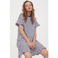 H&M Sukienka typu T-shirt 0825600001 Biały/Niebieskie paski