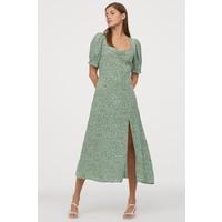 H&M Wzorzysta sukienka 0855200007 Zielony/Kwiaty