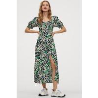 H&M Wzorzysta sukienka 0855200007 Czarny/Kwiaty