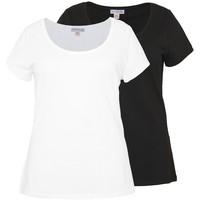 Anna Field Curvy T-shirt basic black, white AX821D038
