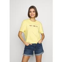 Tommy Jeans COLORED LINEAR LOGO TEE T-shirt z nadrukiem frozen lemon TOB21D07A