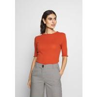 TOM TAILOR DENIM POINTELLE MOCK NECK TEE T-shirt basic fox orange TO721D0RL