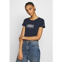 Tommy Jeans SCRIPT T-shirt z nadrukiem twilight navy TOB21D07I