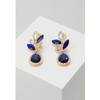 Pieces PCBLUE EARRINGS Kolczyki gold coloured/blue/clear PE351H0XE