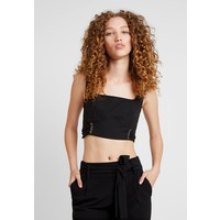 4th & Reckless TYLER CROPPED WITH CORSET DETAIL Bluzka black 4T021E01B