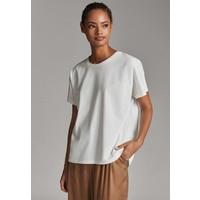 Massimo Dutti UNIFARBENES BAUMWOLLSHIRT 06812902 T-shirt basic white M3I21D06C