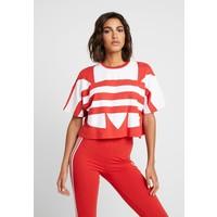 adidas Originals LOGO TEE T-shirt z nadrukiem lush red/white AD121D0OQ