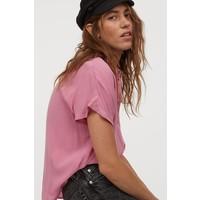 H&M Bluzka z kimonowym rękawem 0838769002 Różowy