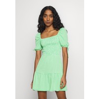 Topshop GINGHAM SHIRRED TEA DRESS Sukienka letnia green TP721C18F