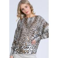 Monnari Sweter w zwierzęcy print 20W-QNS0380-K017