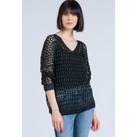 Monnari Połyskujący ażurowy sweter 20W-SWE0240-K020