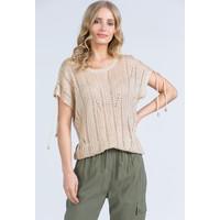 Monnari Ażurowy sweter z krótkimi rękawami 20L-SWE0650-K015