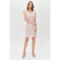 Monnari Koktajlowa sukienka z trapezowym dekoltem FEM-20W-DRW65888-K39X