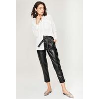 Monnari Spodnie ze skóry ekologicznej wiązane w pasie FEM-63648-99X