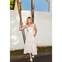 Monnari Rozkloszowana sukienka w kropki 20W-DRE1710-KM00