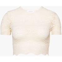 Topshop SUPER CROP Bluzka cream TP721D0V3