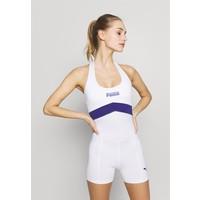 Puma NEON BRIGHTS ACTIVE BODYSUIT Kombinezon gimnastyczny white PU141K01D