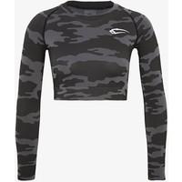 Smilodox SEAMLESS CROPPED LONGSLEEVE RESERVE Bluzka z długim rękawem black SMD41D001