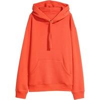 H&M Bluza z kapturem 0456163028 Pomarańczowy