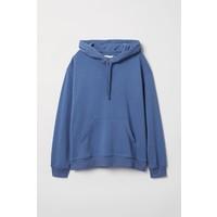 H&M Bluza z kapturem 0456163028 Niebieski