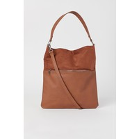 H&M Torba shopper na ramię 0690734002 Brązowy