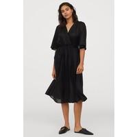 H&M Sukienka z lyocellu 0822158002 Czarny