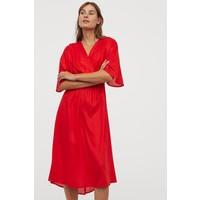 H&M Sukienka z lyocellu 0822158002 Czerwony