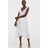 H&M Bawełniana sukienka 0825781004 Biały