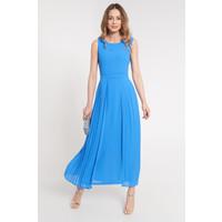 Quiosque Rozkloszowana niebieska sukienka maxi na ramiączkach 4JA006801