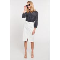 Quiosque Biała spódnica z wysokim stanem z rozporkiem 7JT004100