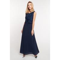 Quiosque Granatowa sukienka maxi z odciętą górą 4JY018842