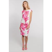 Quiosque Prosta sukienka w duże różowe kwiaty 4JW016511