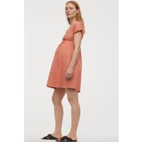 H&M MAMA Sukienka z bawełną 0782859001 Pomarańczowy
