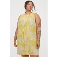 H&M H&M+ Trapezowa sukienka 0892794001 Żółty/Kwiaty