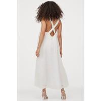 H&M Bawełniana sukienka trapezowa 0895451001 Biały