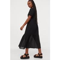 H&M Trapezowa sukienka 0868747001 Czarny
