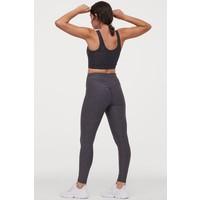 H&M Modelujące legginsy treningowe 0821746004 Ciemnoszary melanż