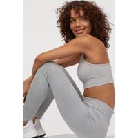 H&M Bezszwowe legginsy treningowe 0740498001 Szary melanż
