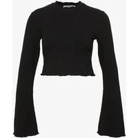 NA-KD TRUMPET SLEEVE Bluzka z długim rękawem black NAA21D05R