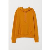 H&M Bluza z kapturem 0715624040 Musztardowożółty