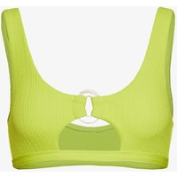 Topshop CRINKLE RING CUT OUT CROP Góra od bikini yellow TP781J01Z