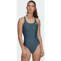 adidas Performance ATHLY V SOLID SWIMSUIT Kostium kąpielowy green AD581G053