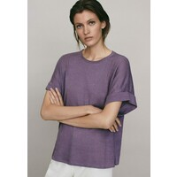 Massimo Dutti UMSCHLAG T-shirt basic dark purple M3I21D08G