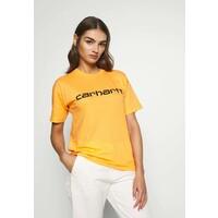 Carhartt WIP SCRIPT T-shirt z nadrukiem pop orange / black C1421D02L